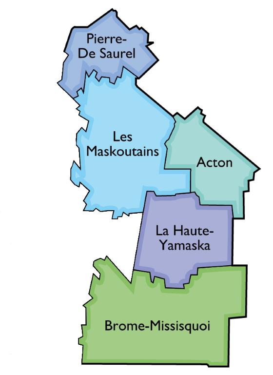 Carte des territoires du GAPHRY
